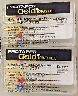 2 x Dentsply ProTaper Gold Files Assorted SX-F3 25mm.