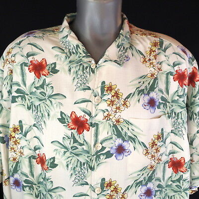 Tommy Bahama $148 Breakwaway Blooms Continental Silk Short Sleeve Camp Shirt NWT