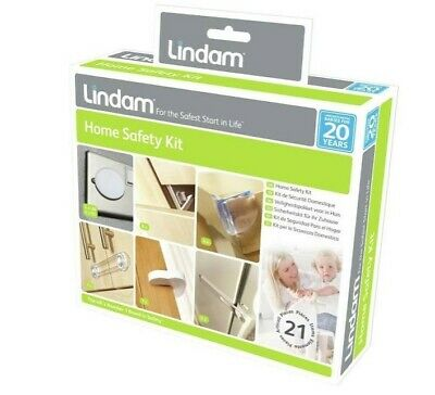 Lindam Home Safety Kit 21 pcs Child Safety Door Stopper Table Protectors