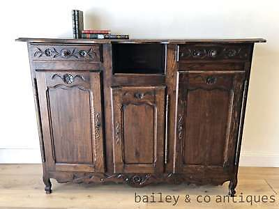 Antique French Oak Buffet Sideboard Provincial Louis Style Carved - PQ027