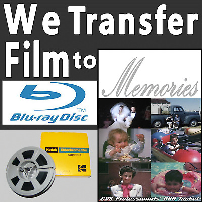 8mm Film to DVD Tansfer Service with FREE 1080p High Definition HD Blu-ray