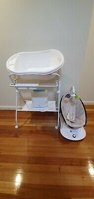 4moms Rockaroo with Bottle Steriliser, Bath tub with Stand & Alphabetical Puzzle