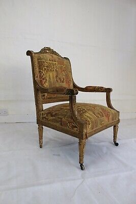 Antique French Fauteil Armchair Louis XVI Style
