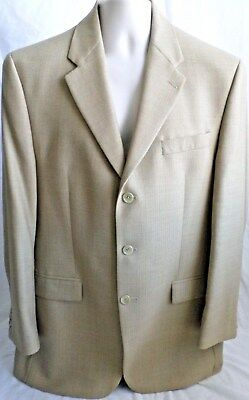 Chaps Ralph Lauren Size 42R Mens Wool Sport Coat 3 Button Single Vent Lined