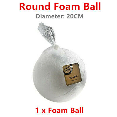 Large 20CM Polystyrene Foam Ball Styrofoam Art Decoration Millinery Craft DIY