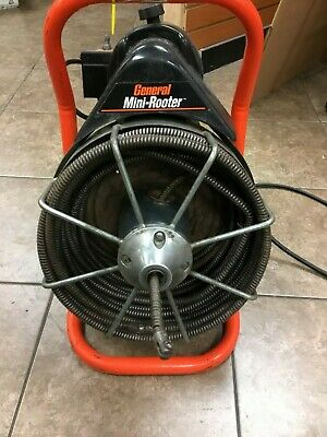 General MiniRooter 50' Power Drain Cleaner Sewer Snake Electric 120 volts 1/3 hp