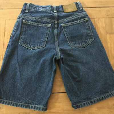 VINTAGE 90s Calvin Klein Boys Size 8 Reg. Long Dark Denim Jean Shorts Loose Fit