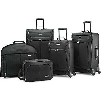 American Tourister 5 Piece Softside Traveler Bag Suitcase Trolley Luggage Set