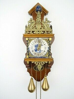 Zaanse DELFT Dutch Wall Clock Vintage Antique Holland (Warmink Hermle WUBA Era)