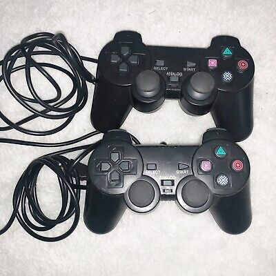 2x PlayStation2 Dual-Shock PS2 Wired Replacement Generic Controller Gamepad
