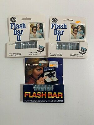 Vintage Polaroid Time-Zero Supercolor SX-70 Film and GE Flash Bar II Bulbs