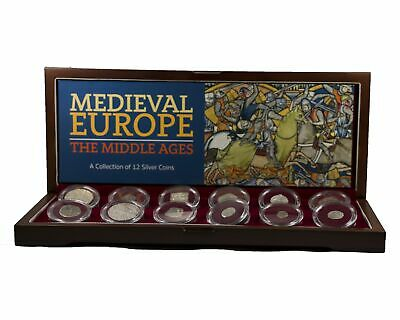 Medieval Europe: A Collection of 12 Silver Coins From the Middle Ages