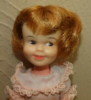 Vintage Deluxe Reading PENNY BRITE Doll w/ Flower Girl Dress Side Glancing Eyes