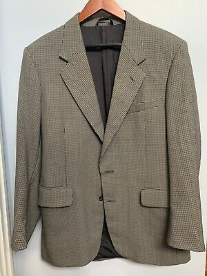 """Christian Dior Suit """"Monsieur"""" Black And White Houndstooth Jacket EUR 48 US 38"""
