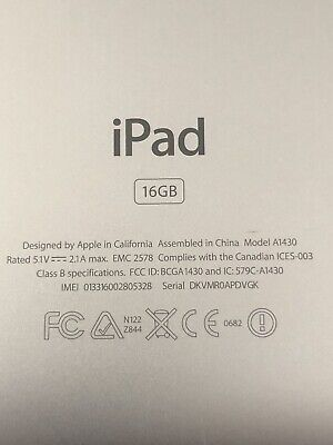 Apple iPad Model A1430