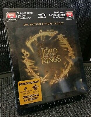 Lord of the Rings Trilogy 9-Disc Steelbook Set (Future Shop) RARE, NEW SEALED
