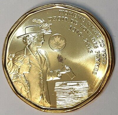 2016 Canada Women's Right to Vote Loonie BU, Roll End (A)