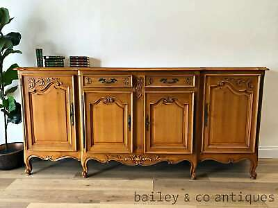Vintage French Sideboard Buffet Enfilade Louis Style Cherrywood Carved - RF100
