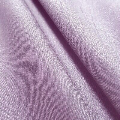 Lavender Lilac Faux Silk Dupioni Fabric Light Purple Fabric By The Yard 58""