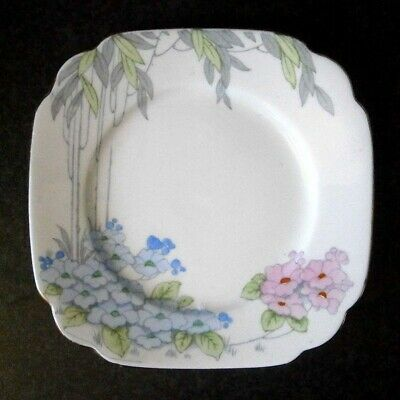 Vintage Royal Stafford English China Beautiful Art Deco Cake Plate