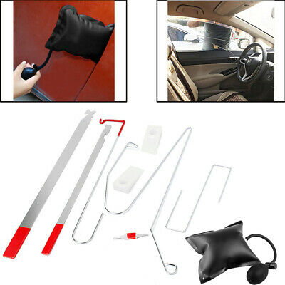 Universal Car Door Lock Out Emergency Open Unlock Key Tools Kit + Air Pump Wedge