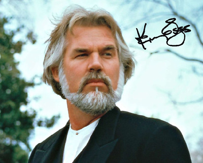 Kenny Rogers Signed Autographed Reprint 8X10 Black Photo Poster Glossy Country