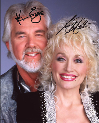Kenny Rogers & Dolly Parton Signed Autographed Reprint 8X10 Photo Poster Country