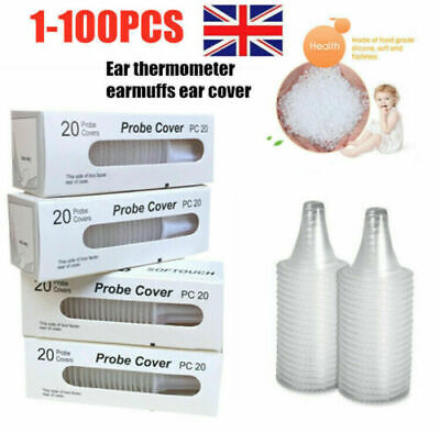100x Braun Probe Covers Thermoscan Replacement Lens Ear Thermometer Filter Cap a