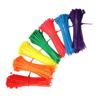 3/4/5/8mm Cable Ties Plastic Nylon Zip Tie Binding Strap All Sizes & Colours