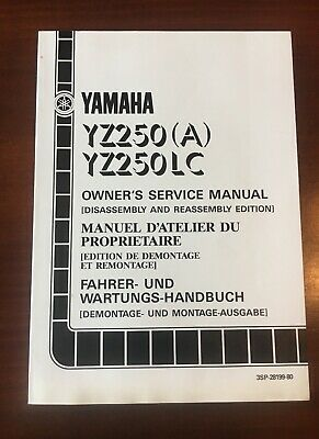 Manuale Yamaha Yz 250 1990 LC (A) In Inglese Francese Tedesco Cod: 3SP-28199-80