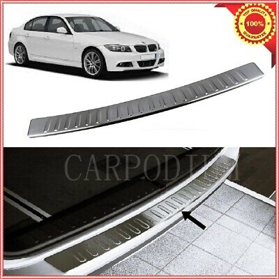 3 SERIES E90 2006-2012 Stainless Steel Chrome Rear Bumper Protector Scratch Guard