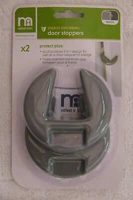 Mothercare Energy Absorbing Door Stoppers, 2 Pack, Grey, BNIB