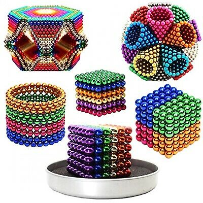 3D Magnetic Cube / Ball /5mm 216 Pcs count 8 Colors/. 14 years neodymium Sphere
