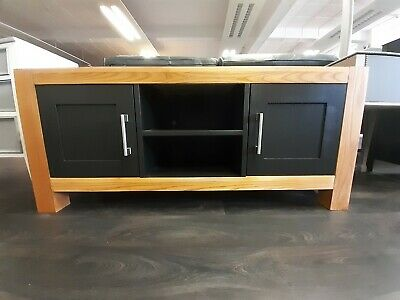 Upcycled Solid Pine TV Cabinet Painted Black
