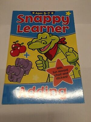 Snappy Learner Numeracy Education Book & Stickers Age 5-7 Adding