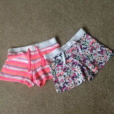 2 pairs of girls shorts age 5-6 years young dimensions NWOT