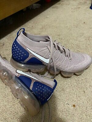 Nike vapormax flyknit 2 Size 12 Air Navy Men's Diffused Taupe