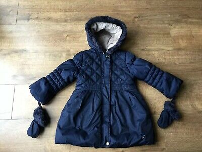 Junior J Jasper Conran Navy Girls Coat - Age 4 - 5 Years