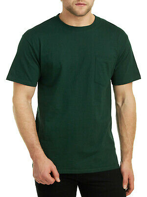 Hanes Men's Beefy-T Short Sleeve Pocket 100% Cotton T-Shirts 5190 - 10 Colors