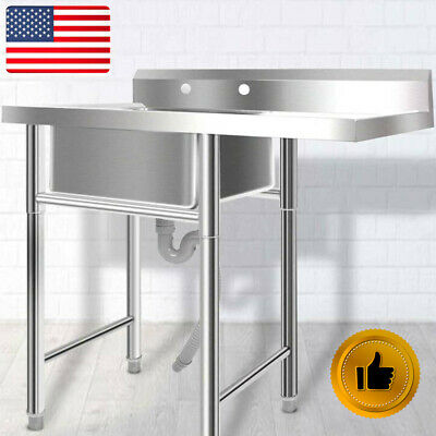 """Commercial 39"""" Stainless Steel Sink Silver Utility for Room Outdoor/Laundry USA"""