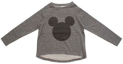 ** Girls Jumper Sweat Top Mickey Minnie Mouse Stud Sparkle 13-14 Years