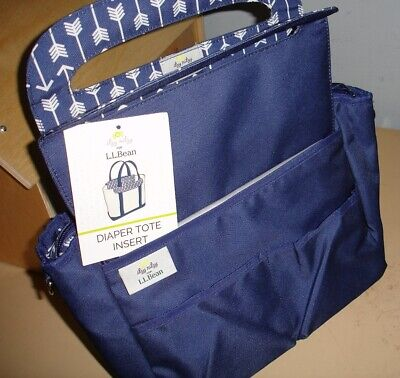 L.L.Bean Diaper Bag/ Tote Bag Insert, Blue, Discontinued OOP