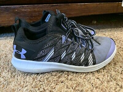 Under Armour Infinity Girls Kids Sz 13.5 K Running Shoe Black Purple