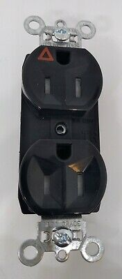 Pass Seymour TRIG5262BK Tamper Resistant Duplex Receptacle 15A BLACK FREE SHIP