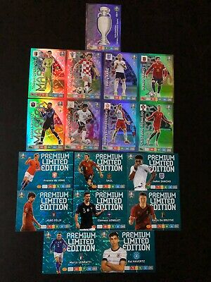 Adrenalyn Xl Euro 2020 Panini - Ensemble complet 9 Rare + 8 Limited