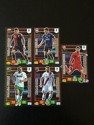 Adrenalyn Xl 2019 20 Panini - 5 Cards Limited Edition Rivista Bomber