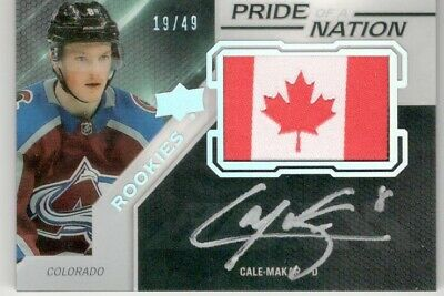 2019-20 Ud Upper Deck Spx Cale Makar Pride Of A Nation Rookie Auto #19/49