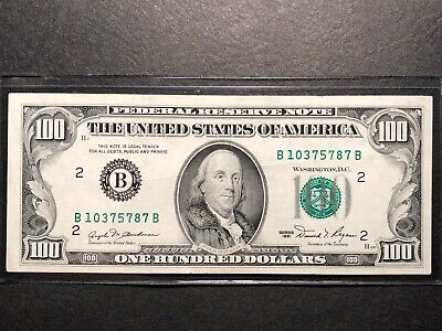 $100  FEDERAL RESERVE HUNDRED DOLLAR BILL..OLD CURRENCY..SMALL HEADS 1