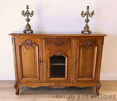 French Vintage Cherrywood Buffet Sideboard Louis Style- PQ212