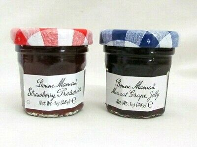 Bonne Maman 2 pack variety Strawberry Preserves, Muscat Grape Jelly NEW